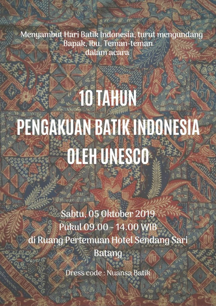 Pengakuan Batik Indonesia Oleh Unesco